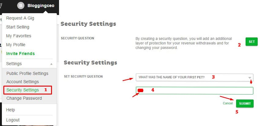 set-security-question-in-fiverr