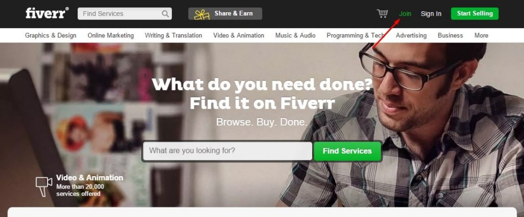 setting-up-profile-on-fiverr