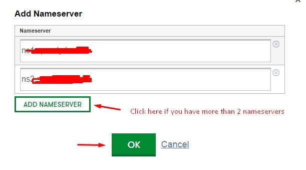save nameservers