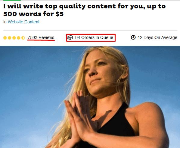 content writing gig idea