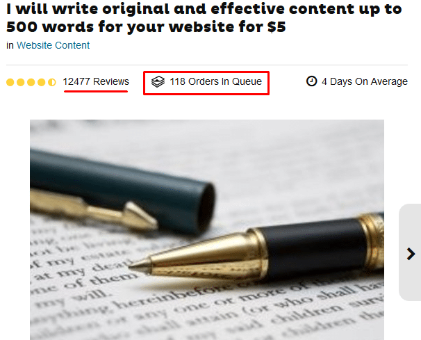 content writing gig