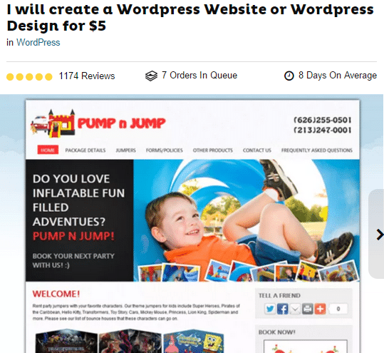 design wordpress site