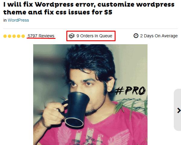 wordpress fixing gig