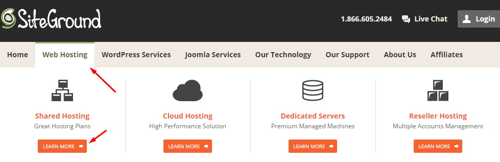 purchase hosting from siteground