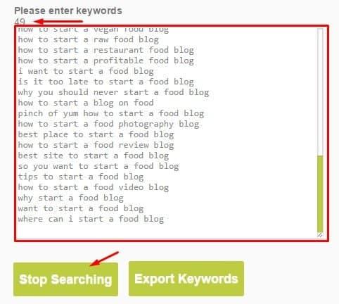 greenhatworld keyword tool result