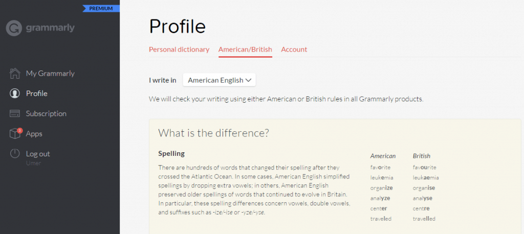 grammarly-profile